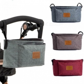 Baby Stroller Accessories Bag New Cup Bag Stroller Organizer Baby Carriage Pram Buggy Cart Bottle Bag Car Bag Brown