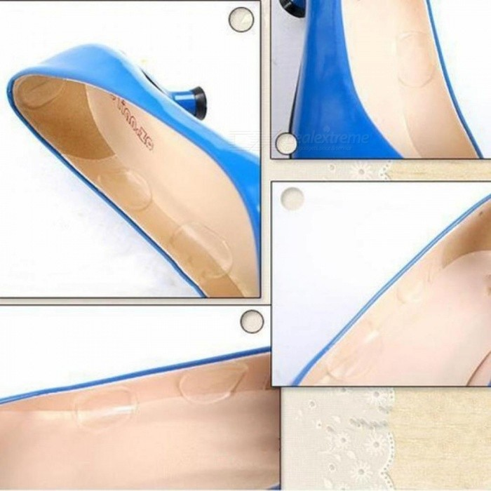 Fashion Women Silicone Gel Soft Slender Heel Sticker Wear Proof Anti Slip with Thicken Clear Shoe Cushion 12
