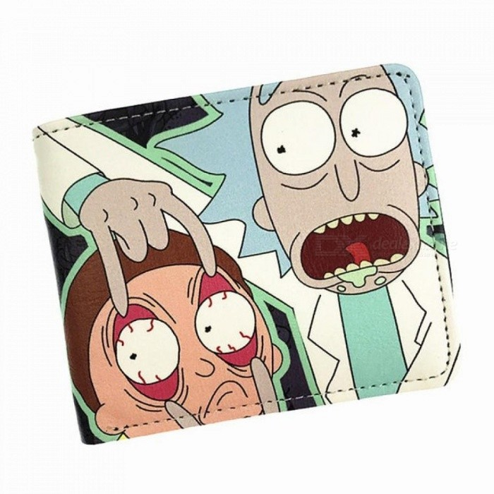 comics rick and morty wallet with coin pocket card holder short coin
