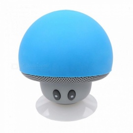 Kebidu Bluetooth Mini Mushroom Speaker Waterproof Silicon Suction Handfree Holder Music Player for Iphone 6 6S Android PC 4GB/Pink