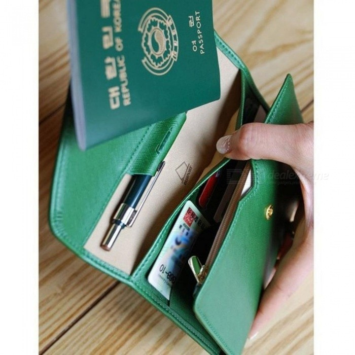 2018 Hot Selling Korean Style Passport Wallet Multifunction Credit Card Package ID Holder Travel Clutch Bag