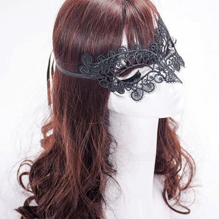 1pc Black Sexy Lady Lace Mask Half Face Mask Eye Mask for Masquerade Party Fancy Dress Costume Halloween Party