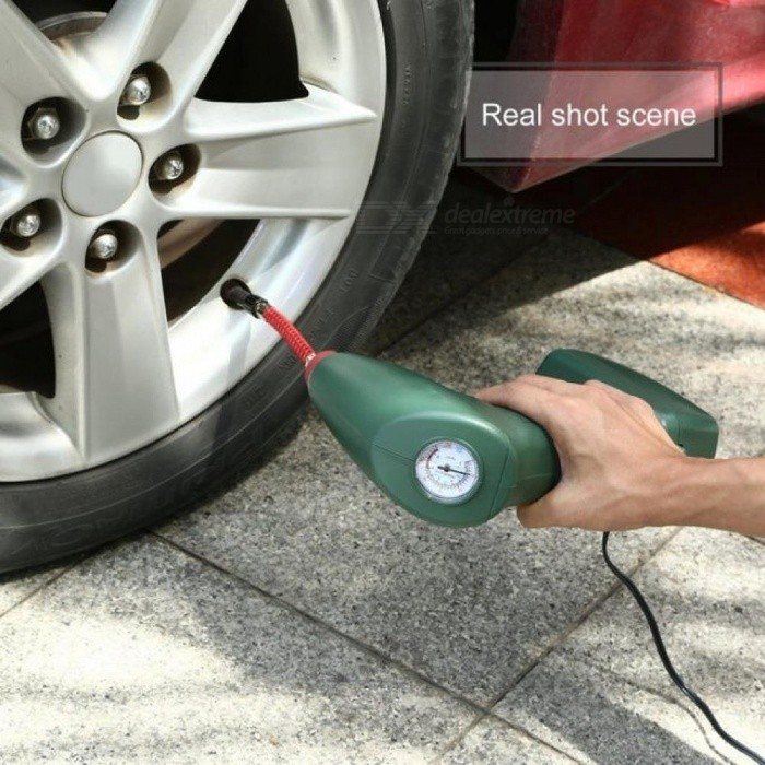 Handheld Portable Air Compressor Auto Tire Inflator Pump Car Tool for Outdoor Emergency Sports Ball Pool Toys Air Mattresses