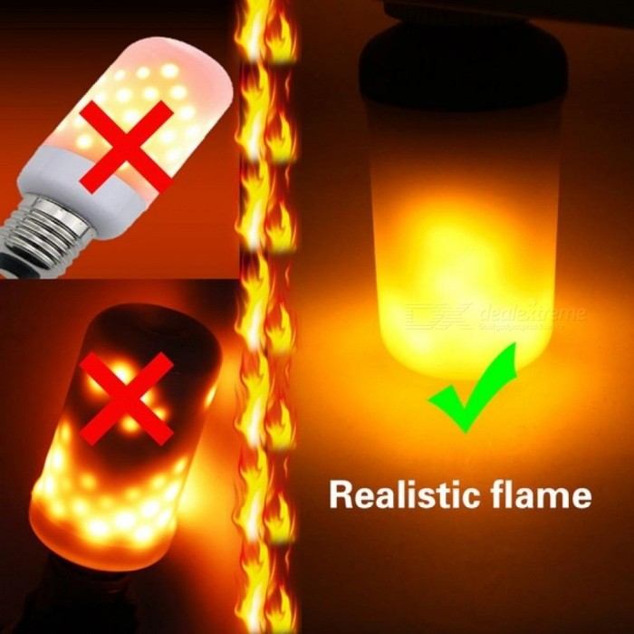 Led Flame Effect.E27 E26 2835 Led Flame Effect Fire Light Bulbs 7w Creative Lights Flickering Emulation Vintage Atmosphere Decorative Lamp E26 7w E27