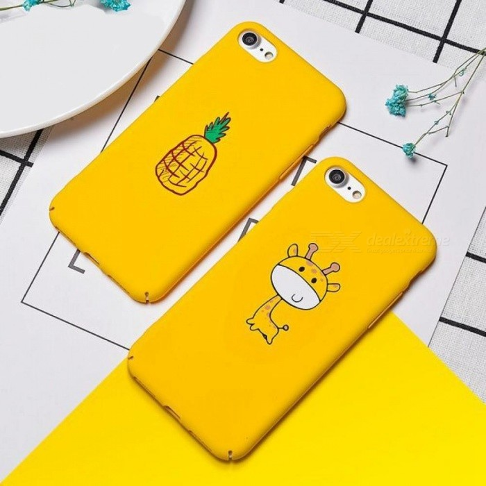 the best attitude 544e9 7a7d4 Cartoon Cute Case for iPhone X 7 8 6 6s Case Pineapple Giraffe Fruit Animal  Phone Cases Hard PC Back Cover for iPhone 6 7 8 Plus For iPhone ...
