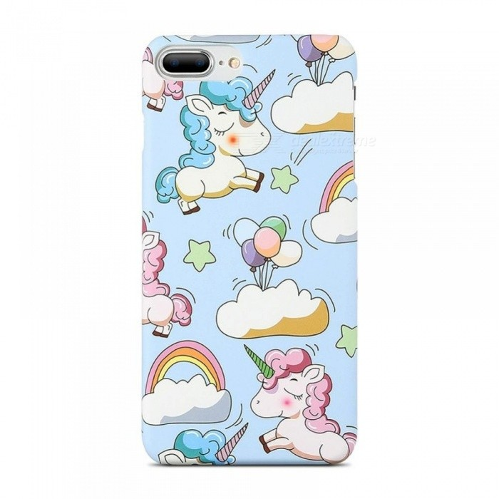 best loved 3ed2d c0e13 Cute Cartoon Unicorn Phone Case for iPhone 5s 6 7 8 Plus Case Smooth Touch  Hard PC Capa Cover for iPhone X Funda Coque For i6 plus 6s plus/Blue