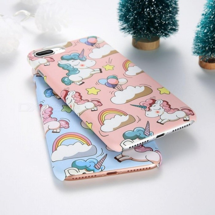 ... Cute Cartoon Unicorn Phone Case for iPhone 5s 6 7 8 Plus Case Smooth  Touch Hard ... 94a7fe47b7