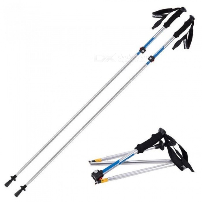 Ultra-light EVA Handle 5-Section Adjustable Canes Walking Sticks Trekking Pole Alpenstock for Outdoor
