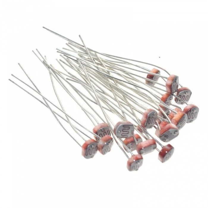 20PCS x 5528 Light Dependent Resistor LDR 5MM Photoresistor Photoconductive Resistance for Arduino  Red