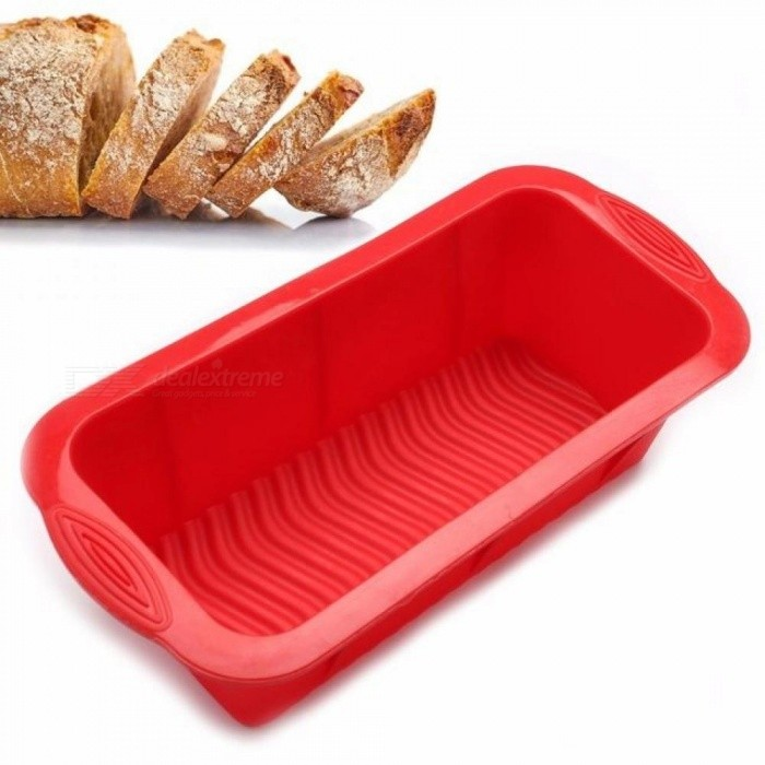 3D Bread Pan Best Bakeware for Baking Loaf and Large Cakes Commercial Grade Non-Stick Silicone Mould Baking Dishes & Pans