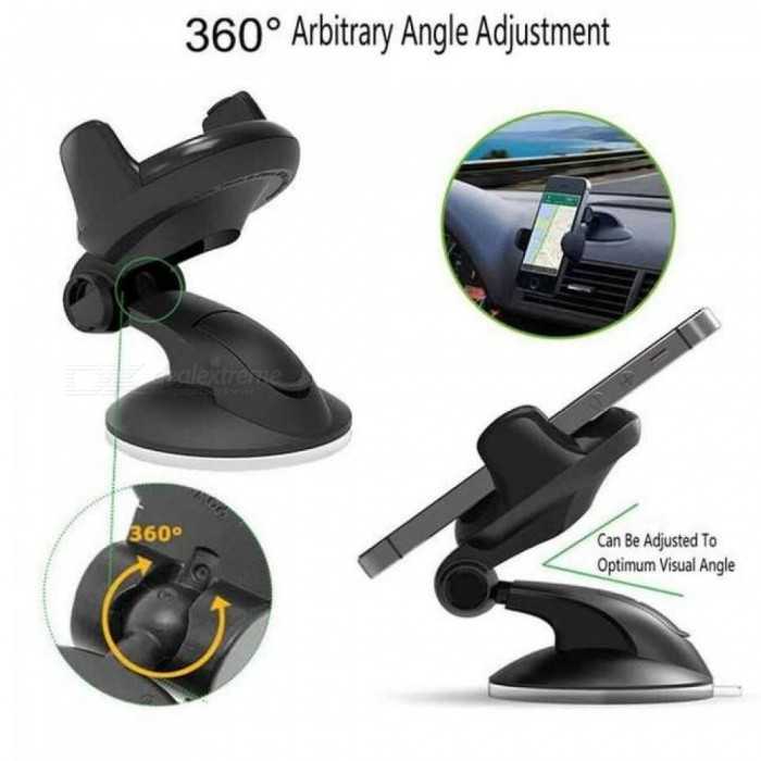 Windshield Mount Car Phone Holder in Car for Samsung S9 S8 Plus 360 Rotation Car Holder for iPhone X Phone Stand Support