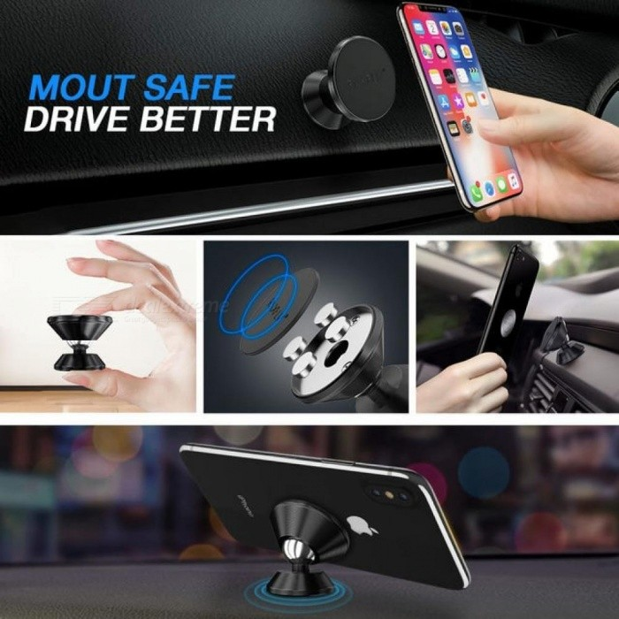 Magnetic Car Phone Holder for Samsung S8 Plus S7 360 Rotation Car Holder for iPhone X 7 Plus Universal Phone Stand Holder