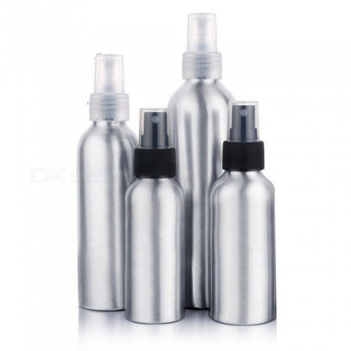 ad40f8e73 100ml/120ml Aluminum Perfume Bottle with Spray Mini Portable Empty  Refillable Perfume Atomizer Spray Bottle