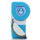 Handheld USB/4xAA Powered Cooler Air Conditioner - Blue