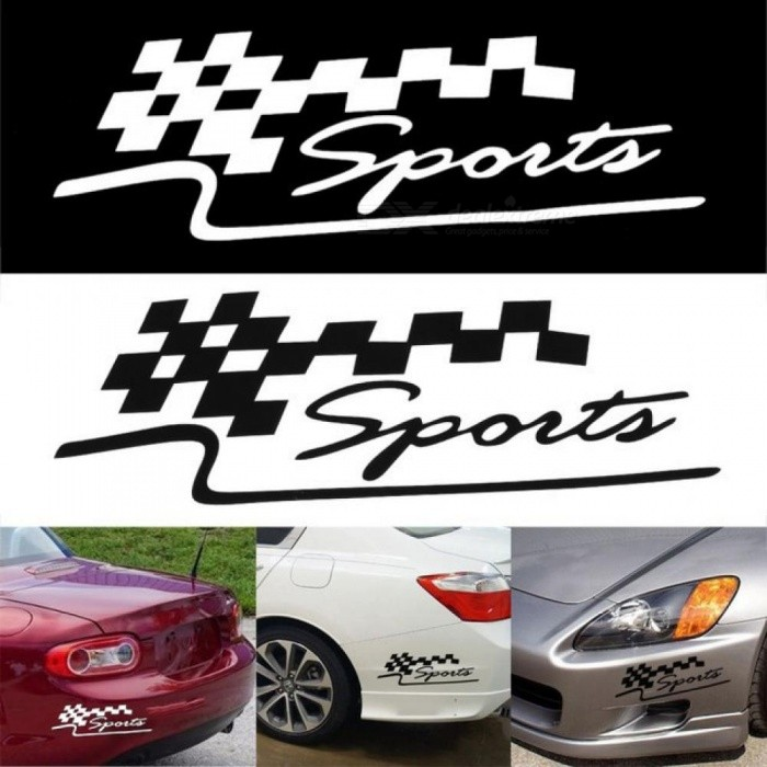 1 Pcs Decal Racing Sports Flag Set Car Stickers Auto Motorcycle Reflective Vinyl Sticker Car Styling