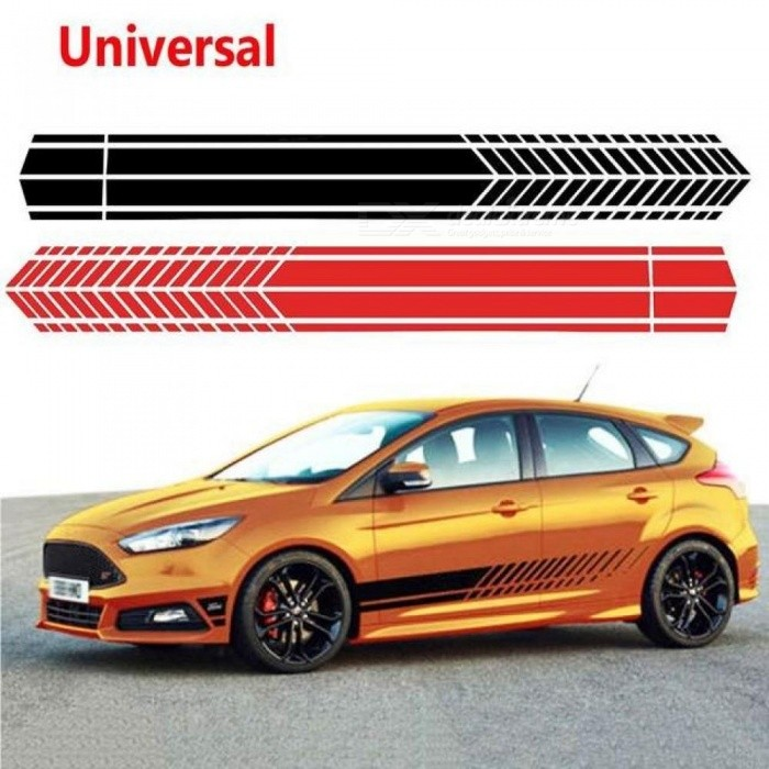 Universal Sports Racing Stripe Graphic Cartoon Stickers Truck Auto Car Body Side Door Decals Glue Sticker