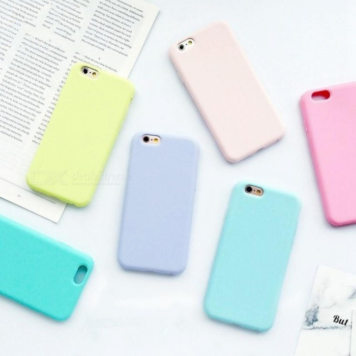 d7a309ad503 Macarons Color TPU Silicone Frosted Matte Case for iPhone 6 6S soft Back  Cover for iphone