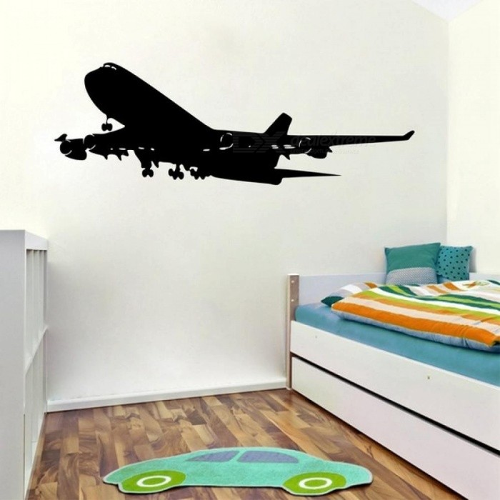 ... Realistic Aircraft Wall Decals Removable Airplane Vinyl Wall Sticker  For Home Kids Room U0026 Living Room ...