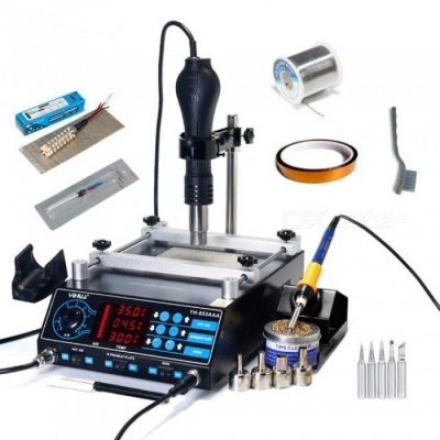 853AAA BGA Rework Station SMD Hot Air Gun Soldering Irons Preheating Station Functions 3 in 1 BGA Rework Soldering Station 220V