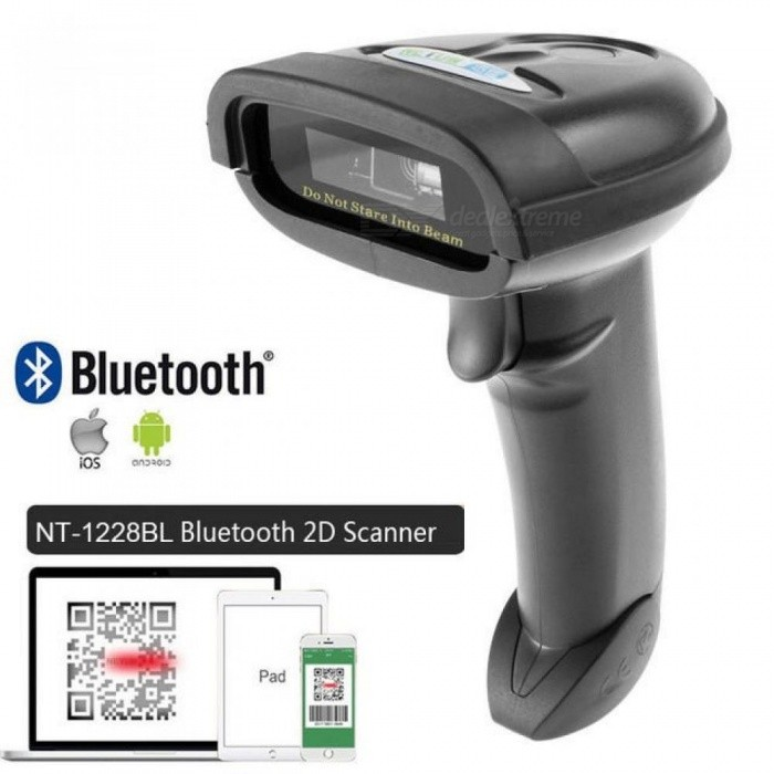 NT-1698W Handheld Wireless Barcode Scanner and NT-1228BL Bluetooth 1D/2D QR  Bar Code Reader PDF417 for IOS Android