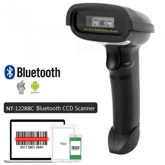 NT-1698W Handheld Wireless Barcode Scanner and NT-1228BL Bluetooth 1D/2D QR  Bar Code Reader PDF417 for IOS Android 1228BC Bluetooth CCD