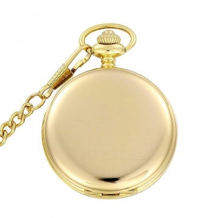 Fashion Polish Smooth Quartz Pocket Watch Jewelry Alloy Chain Pendant Necklace Man Women Gift Silver Bronze Black Gold