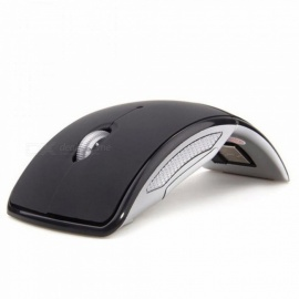 Wireless Mouse 2.4G Computer Mouse Foldable Travel Notebook Mute Mouse Mini Mice USB Nano Receiver for Laptop PC Desktop Black