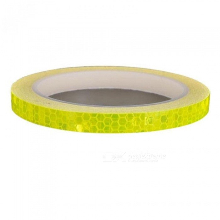 1cm*8m Reflective Stickers Motorcycle Bicycle Reflector Bike Cycling Security Wheel Rim Decal Tape Fluorescent Waterproof