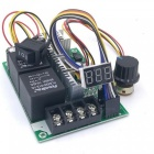 PWM Adjustable Speed Controller DC Motor Digital Display 0~100% Adjustable Drive Module Input Max 60A 12V 24V Speed Controller