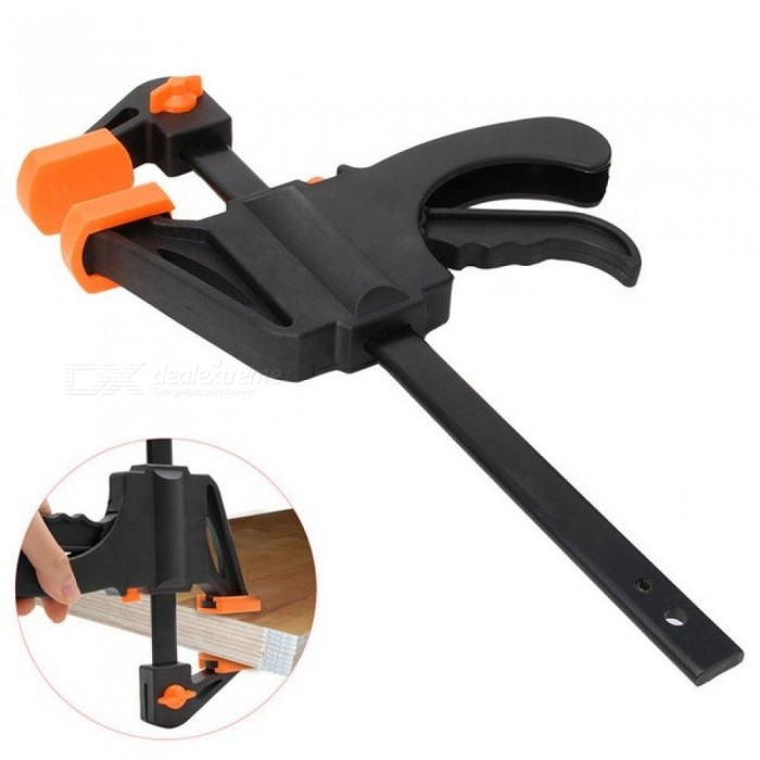 6 Inch Clamp Heavy Duty Woodworking Bar Clamp Quick Ratchet Release Speed Squeeze DIY Hand Tools F Clamp