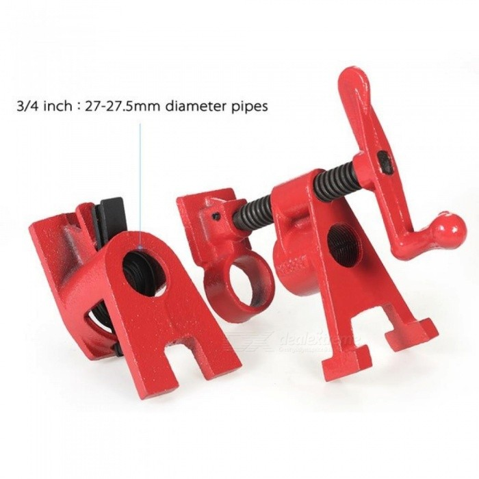3/4 1/2 Inch Heavy Duty Pipe Clamp Woodworking Wood Gluing Pipe Clamp Pipe Clamp Fixture Carpenter Woodworking Tools