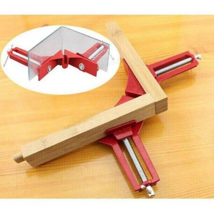 4 Inch 90 Degrees Right Angle Clamp 100mm Mitre Structure Clamps Corner Clamp Picture Holder Clamp for Woodworking Tool