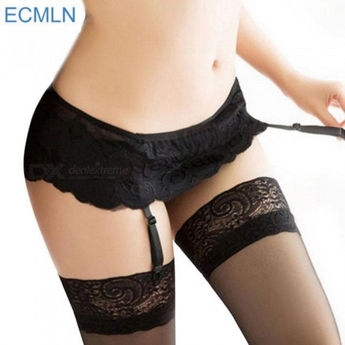 78ea24c0bd1 New Womens Sexy Fashion Black Lace Top Thigh Highs Stockings Garter Belt    No Stocking Size