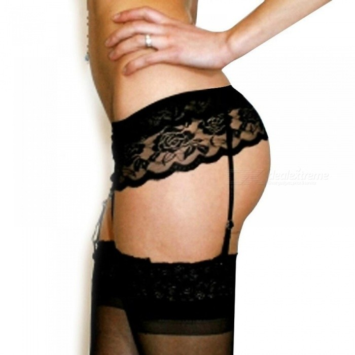 dd3074b087bed New Womens Sexy Fashion Black Lace Top Thigh Highs Stockings Garter Belt # No  Stocking Size