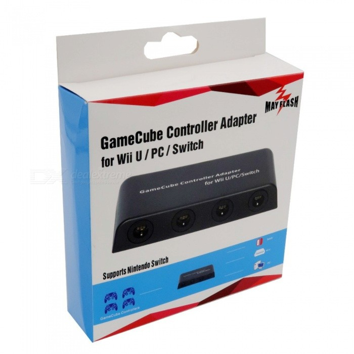 GAM3GEARG 3 New Mayflash 4 Ports For Gamecube Controllers Adapter For WIIU System & PC USB  Wu-010031