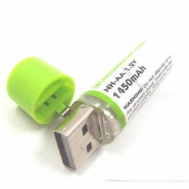 4 pcs portable AA batterie 1450 mah 1.2V USB piles rechargeables USB CELL AA batterie rechargeable LED indicateur 4 PCS