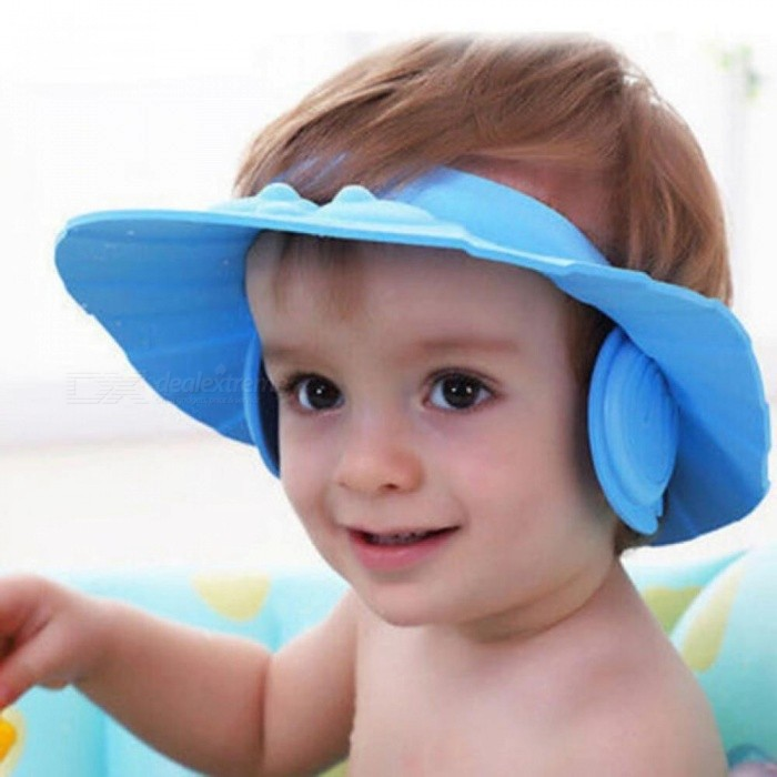 7215a25c1cd 3 Color Soft Adjustable Baby Shower Cap Protect Children Kid Shampoo Bath Wash  Hair Shield Hat Waterproof Prevent Water Into Ear Yellow - Worldwide Free  ...