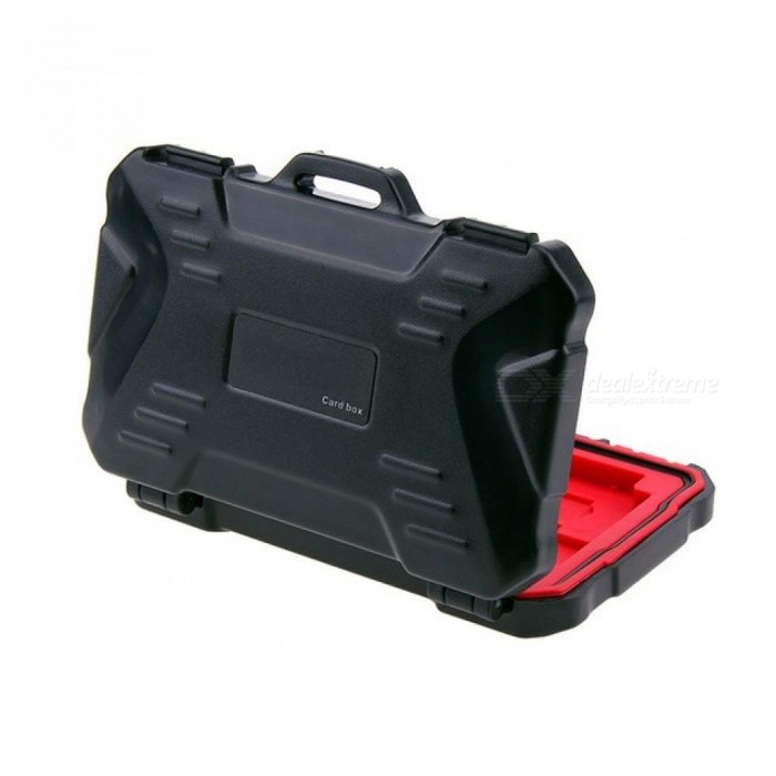 Memory Card Case Holder for 4 CF 8 SD Card SDXC MSPD XD 12 TF T-Flash Storage Box Protector Case Waterproof Anti-Shock