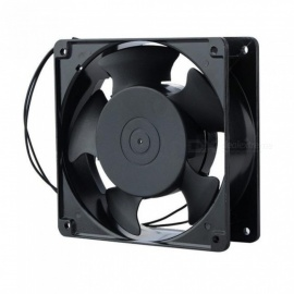 120x38mm 220V 240V AC Cooling Fan Metal Replacement Cooler Fan for Computer Case AC Heat Removal Fan  Black
