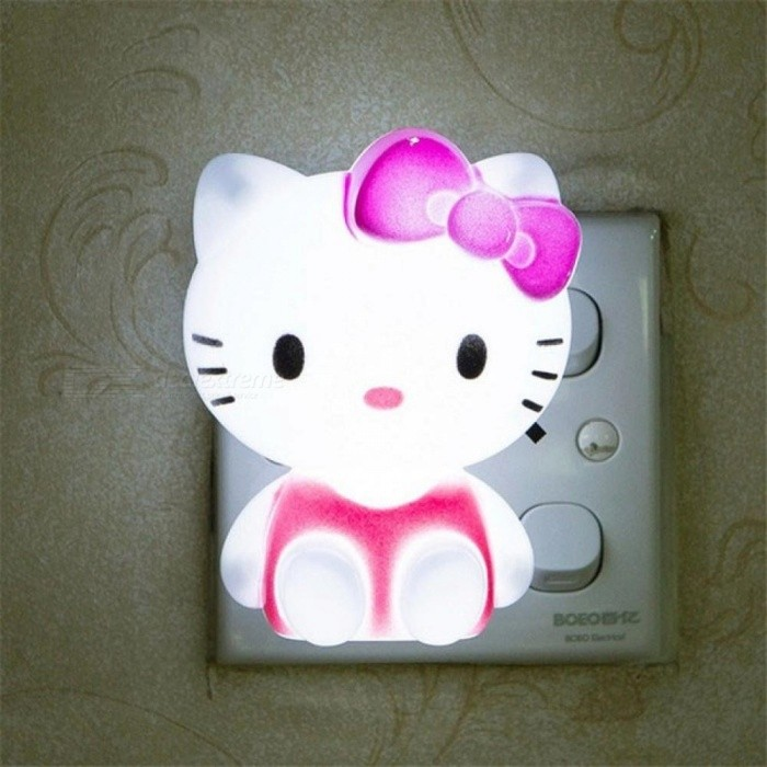 Hello Kitty LED Night Light AC V Cartoon Night Lamp With US Plug - Hello kitty lamps for bedroom