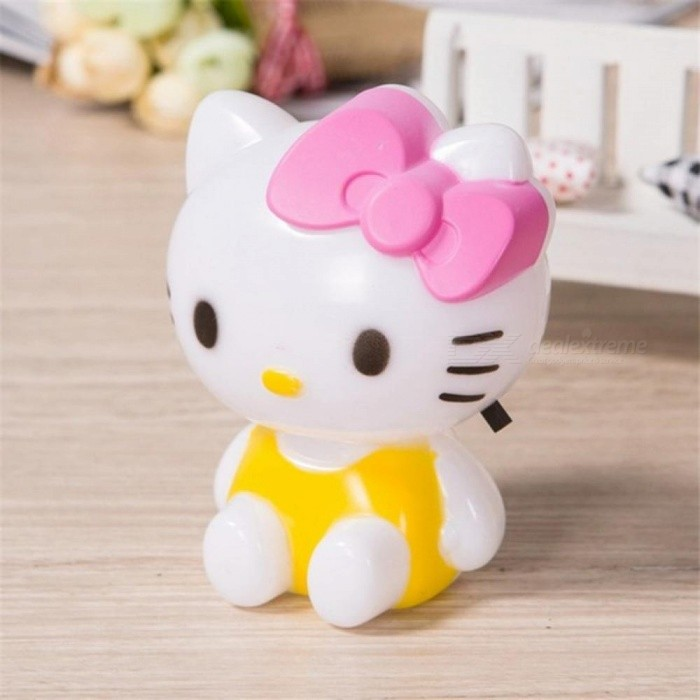 Hello Kitty LED Night Light AC 220V Cartoon Night Lamp with US Plug Gifts for Kid Baby Children Bedroom Bedside Lamp