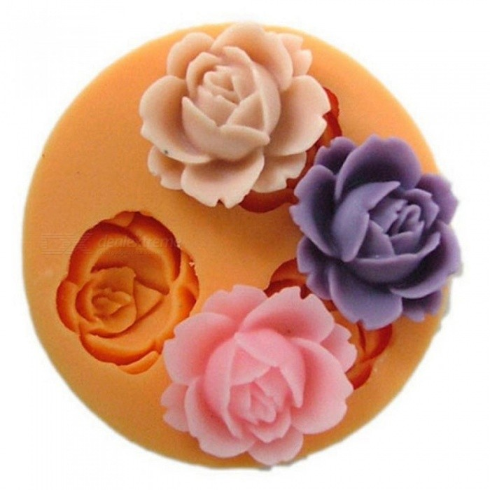 Rose Flower Silicone Mold for Fondant Cake Decorating Chocolate Cookie Soap Fimo Polymer Clay Resin Eco-Friendly