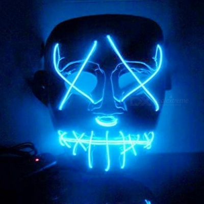 Halloween Mask LED Light Up Funny Masks The Purge Election Year Great Festival Cosplay Costume Supplies Party Masks Glow In Dark BL