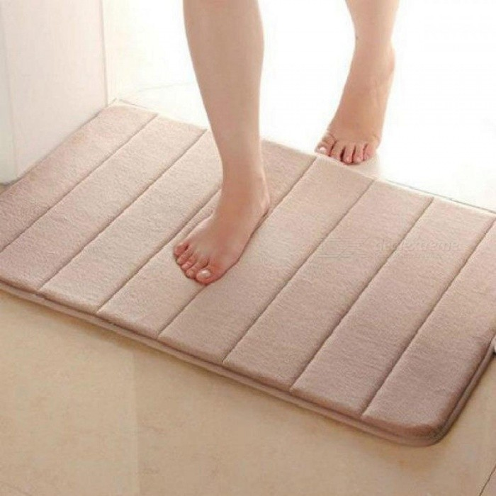 40x60cm Absorbent Mats Bath Mats Bathroom Horizontal Stripes Rug Absorbent Non-slip Bath Mats Bathroom and Bedroom