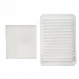 2 Pcs/Set Car Engine & Cabin Air Filter for Toyota /Camry /Venza /4CYL 2007-2015 17801-28030 CA10171 17801-0H050 AF5649 CF35667 White