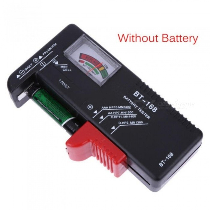 BT168 Universal Digital Battery Tester Electronic Battery Volt Checker for AA AAA 9V Button Cell Multi Size Voltage Meter