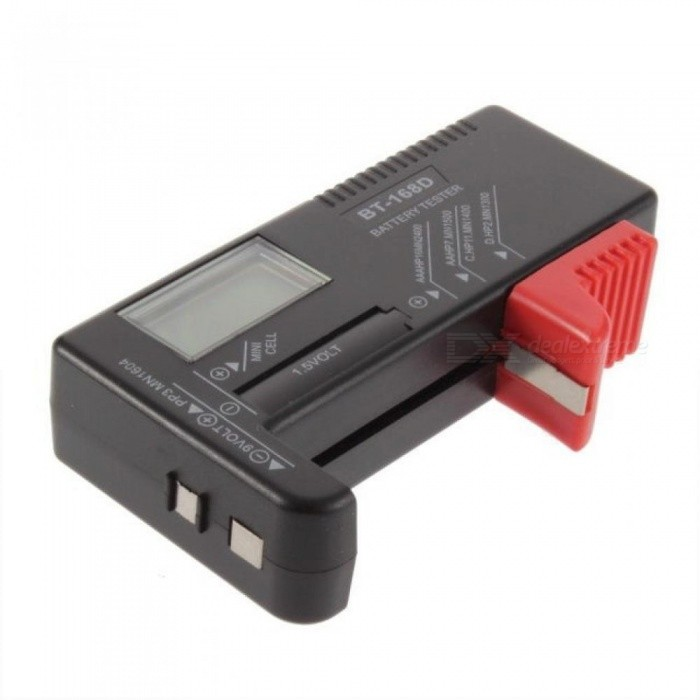 BT168D Digital Battery Tester Checker for 1.5V and AA AAA 9V Button Cell Multi Size Voltage Meter Tool Cell BT-168D