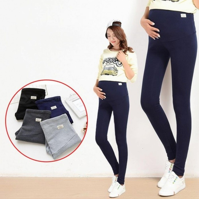 Summer Belly Skinny Maternity Legging in Elastic Cotton Adjustable Waist Pencil Pregnancy Pants Clothes for Pregnant