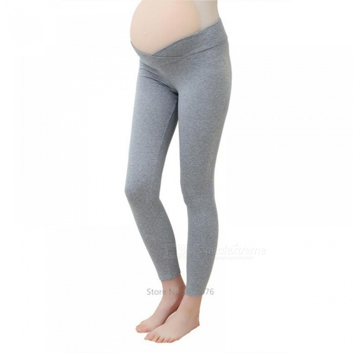 ee24d8d69f32ac Spring Maternity Leggings Low Waist Pregnancy Belly Pants For Pregnant  women Maternity Thin Trousers Clothes Leggings XXL/Dark Gray