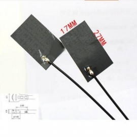 433Mhz 6dbi high gain LoRa antenna internal aerial piamater FPC 27*17mm IPEX connector 10cm cable size 27*17 Black